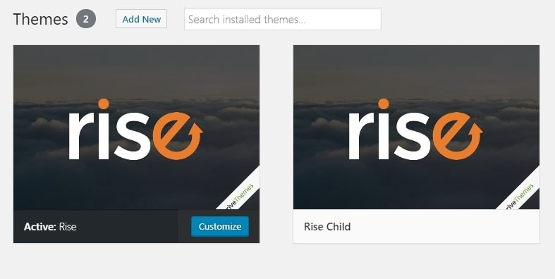 Tạo child themes bằng plugins child theme configurator