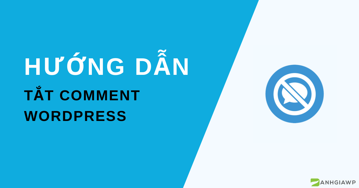 Tắt comment wordpress