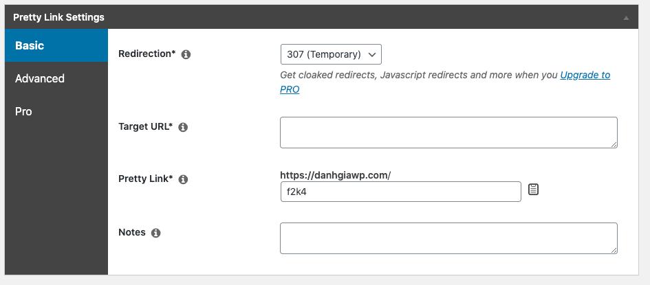 Pretty Link - plugin tạo link affiliate