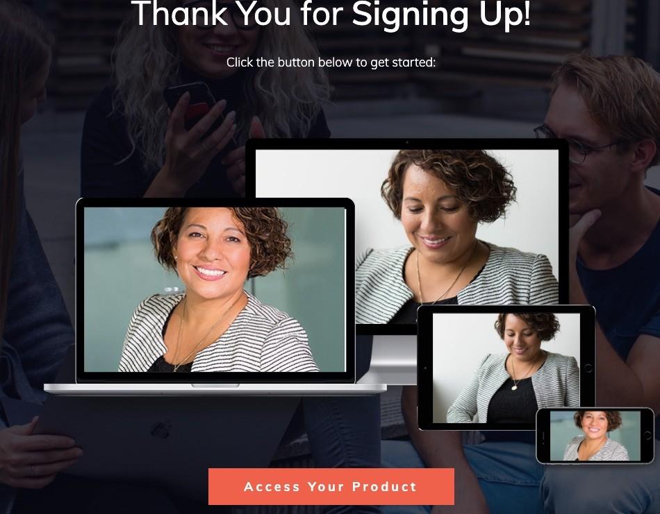 Tạo trang cảm ơn sau khi khách hàng điền form đăng ký