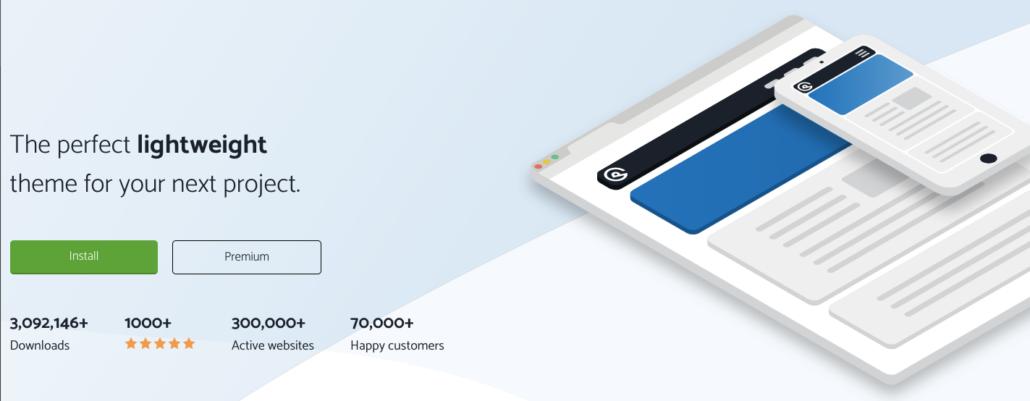 GeneratePress Theme với hơn 300.000 website đang kích hoạt