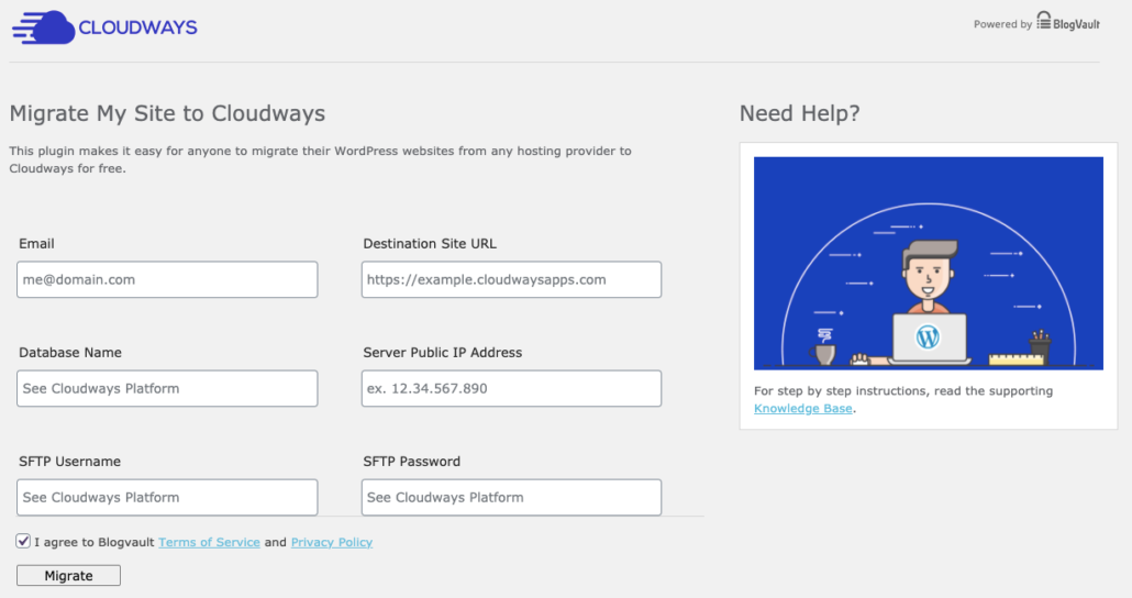 Chuyển dữ liệu về Cloudways bằng plugin Cloudways WordPress Migrator