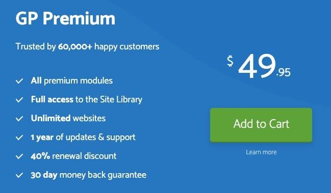 Giá GP Premium gần 50$/năm