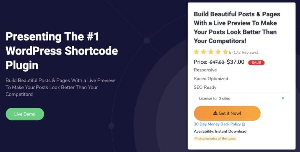 WP Shortcode Pro plugin