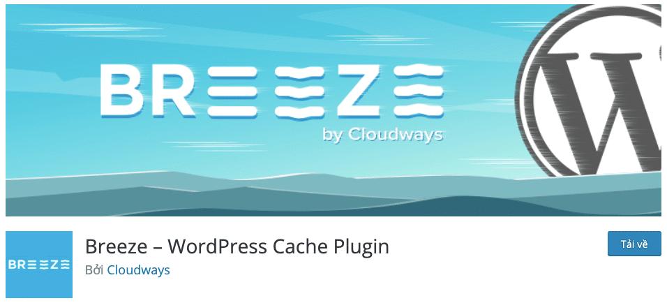 Cài đặt plugin cache Breeze
