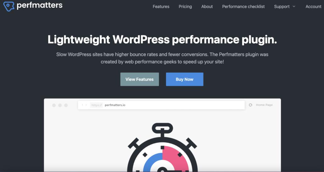 Tăng tốc WordPress với Perfmatters