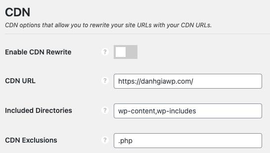 Sử dụng tính năng viết lại URL CDN bằng Perfmatters