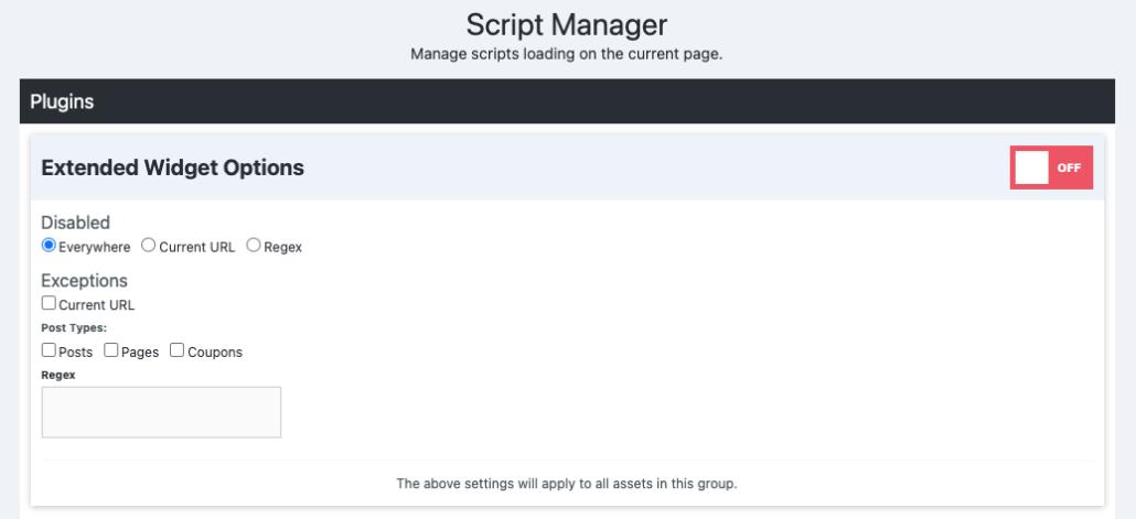 Script Manager – Trình quản lý tệp lệnh trong Perfmatters