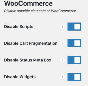 Tối ưu WooCommerce bằng Perfmatters